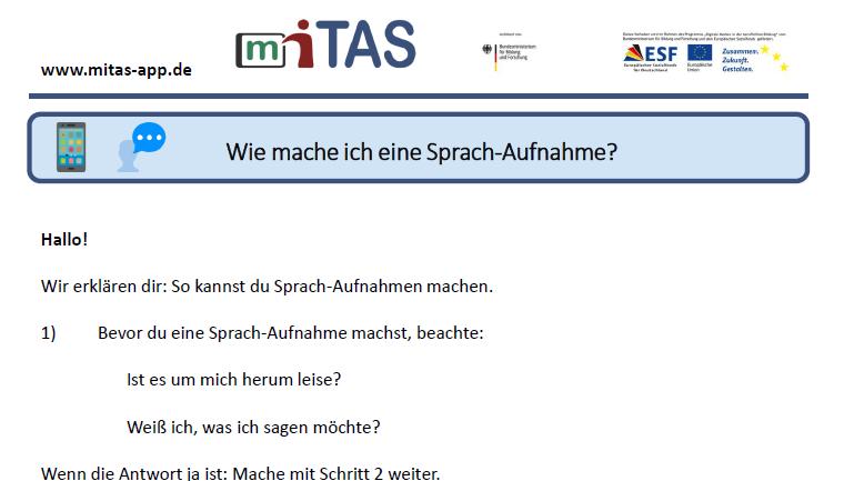 """PDF zur """"Sprachaufnahme"""" öffnen"""