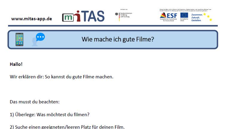 """PDF zur """"Fotos und Videos"""" öffnen"""