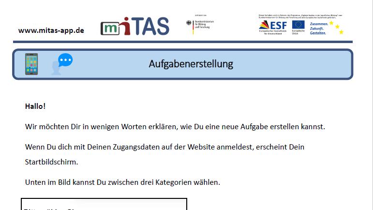"""PDF zur """"Aufgabenerstellung"""" öffnen"""