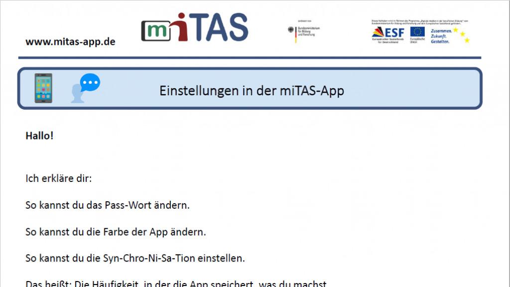 """PDF zur """"Einstellungen"""" öffnen"""