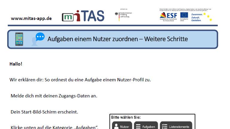 """PDF zur """"Aufgabe Nutzer zuordnen"""" öffnen"""