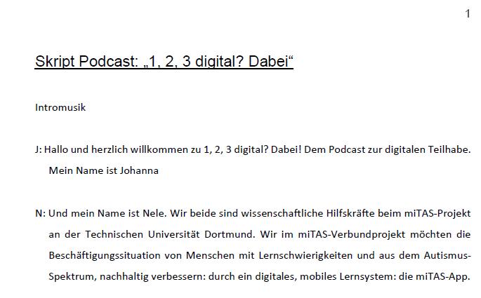 Skript zum Podcast